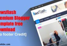 Photo of Newsflash Premium Blogger Template free Download