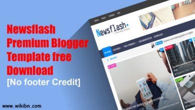 Newsflash Premium Blogger Template, Premium Blogger Template