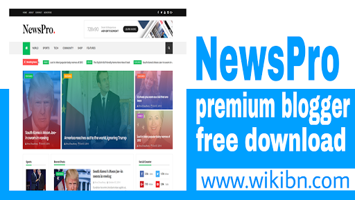 Newspro Premium Blogger Template