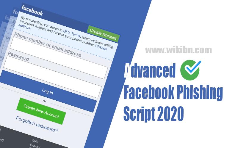 Advance Facebook Phishing Script