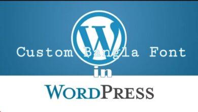 Custom Bangla font in wordpeess