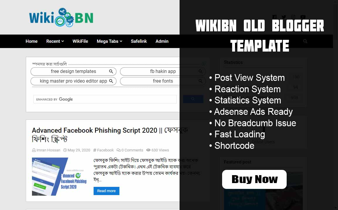 WikiBN Old Blogger Template, WikiBN Old Blogger Template Buy